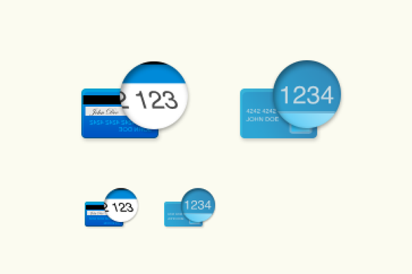 信用卡CCV<br /> http://dribbble.com/shots/778594-Credit-Card-CCV-Icons