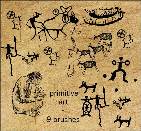 9个原始艺术画笔<br /> http://forestgirl.deviantart.com/art/9-primitive-art-brushes-104429287