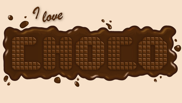 How to Create a Delicious Chocolate Text Effect<br /> http://vector.tutsplus.com/tutorials/tools-tips/quick-tip-how-to-create-a-delicious-chocolate-text-effect/