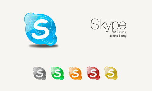Skype的颜色<br /> http://sl05ned.deviantart.com/art/Skype-Colours-81601453