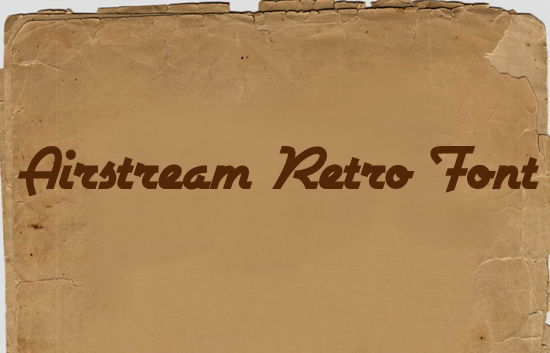Airstream Retro<br /><br /> http://www.fontsquirrel.com/fonts/Airstream
