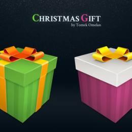 20个圣诞节礼物PNG图标免费素材下载