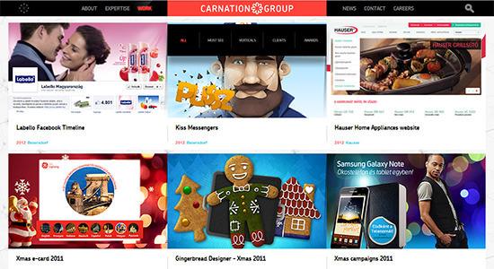 Carnation Group<br /> http://www.carnationgroup.com/work
