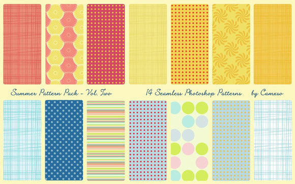 Summer Pattern Pack<br /> http://camxso.deviantart.com/art/Summer-Pattern-Pack-Vol-2-123336836