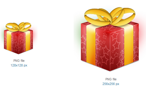 礼品图标<br /><br /> 16×16像素,24×24像素,32×32像素,48×48像素,64×64像素,72×72像素,80×80像素,96× 96像素,128×128像素和256×256像素<br /><br /> http://www.softicons.com/free-icons/holidays-icons/festive-icons-by-kyle-van-essen/gift-icon
