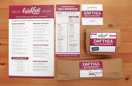 Zaftigs Delicatessen by Richie Stewart<br /> http://www.behance.net/gallery/Zaftigs-Delicatessen/1063357