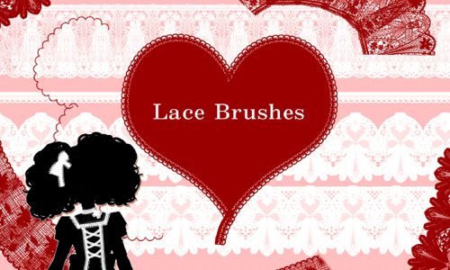 Lace Brushes<br /> http://gimei.deviantart.com/art/lace-brushes-67260894
