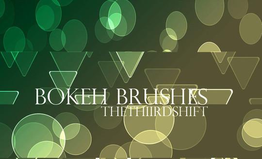 背景虚化的画笔<br /> http://thethiirdshift.deviantart.com/art/Bokeh-Brushes-203825168