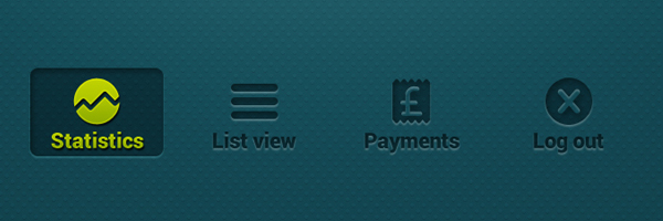 Mobile Banking Buttons<br /> http://365psd.com/day/3-81/