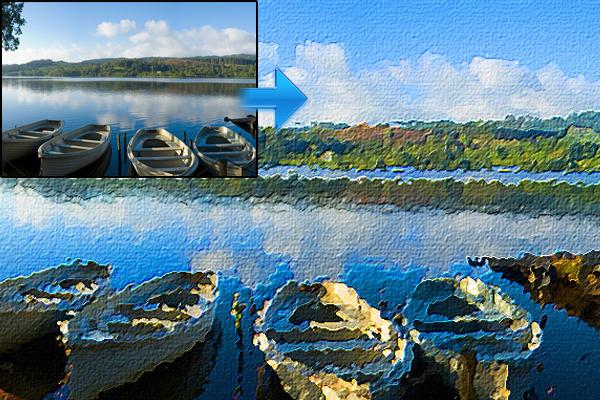 在Photoshop转化照片为油画效果 http://www.photoshopessentials.com/photo-effects/oil-painting/