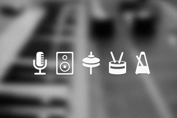 音乐图标<br /> http://dribbble.com/shots/782580-Music-Icons