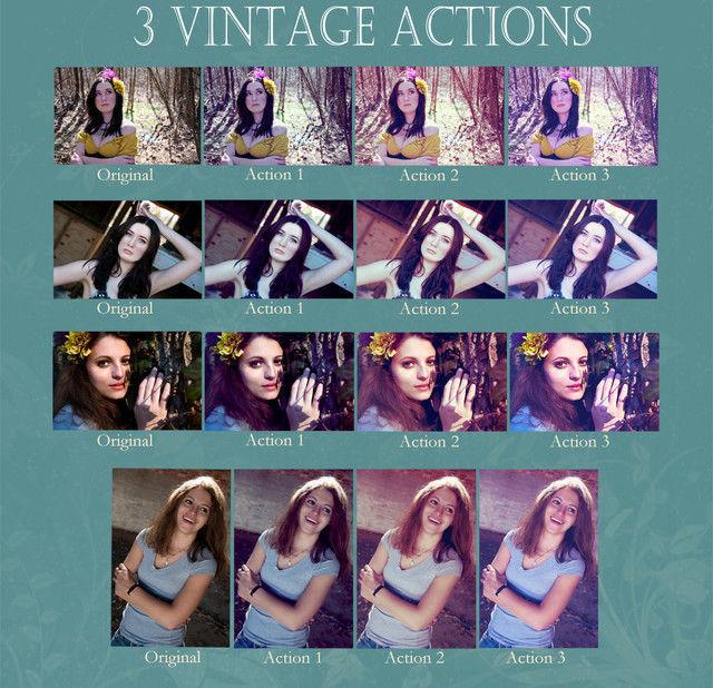 Vintage Action Set<br /> http://thespiffers.deviantart.com/art/Vintage-Action-Set-307975215