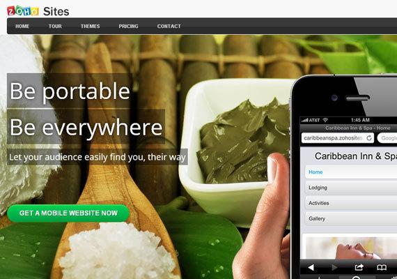 Zoho Sites<br /> http://www.zoho.com/sites/mobile-website.html<br /> 在ZOHO找,你可以通过简单的拖拽来完成你的移动站点的制作,然后把它装到你的手机上就可以了!