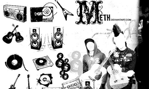 Music Brushes<br /> http://meth.deviantart.com/art/Music-Brushes-56688063
