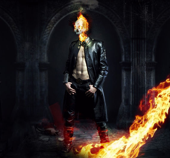 在photoshop中绘制一个燃烧的头颅的效果<br /> http://psd.fanextra.com/tutorials/photo-effects/photo-manipulate-a-kick-ass-flaming-skull-scene/