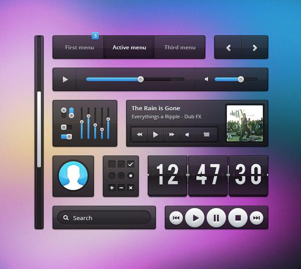 http://365psd.com/day/2-323/<br /> http://kbsportfolio.com/2012/05/04/resource-for-designer-transparent-ui-kit/