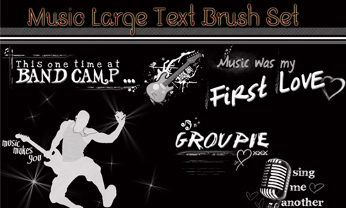 Music Photoshop Brushes<br /> http://forgottenshadow7.deviantart.com/art/Music-Photoshop-Brushes-91036330