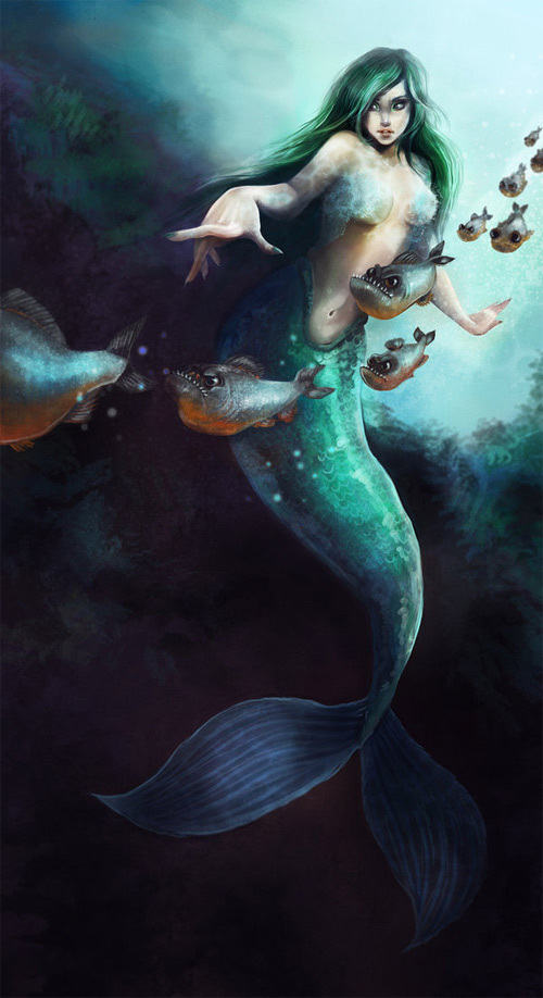 美人鱼<br /> http://nataliasoleil.deviantart.com/art/Mermaid-208670794