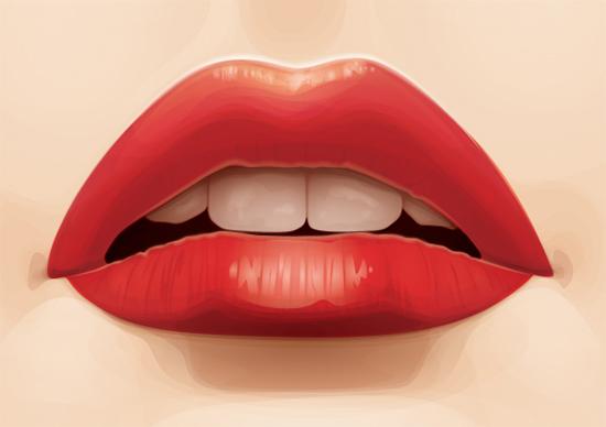 在Illustrator CS6中绘制甜美的嘴唇<br /> http://vector.tutsplus.com/tutorials/illustration/vectoring-luscious-lips/