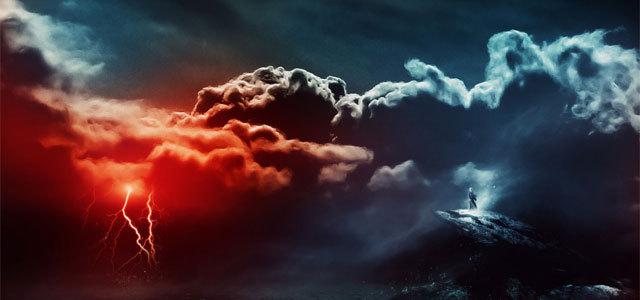 """创建""""风暴正在接近""""艺术品 http://www.psdvault.com/photo-effect/the-creation-of-the-storm-is-approaching-artwork-in-photoshop/"""