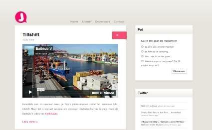 35个漂亮的极简主义风格的网站截图