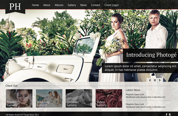 PHOTOGÉ: FREE PHOTOGRAPHY WEBSITE PSD<br /> http://psdstyle.net/2012/01/27/photoge-free-photography-website-psd/