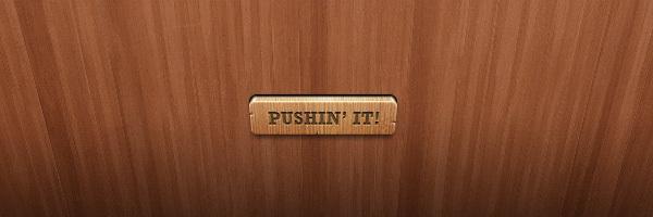 Wooden Button<br /> http://365psd.com/day/272/