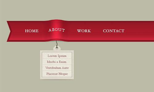 优雅的丝带菜单<br /><br /> http://www.designkindle.com/2010/10/28/elegant-ribbon-menu/