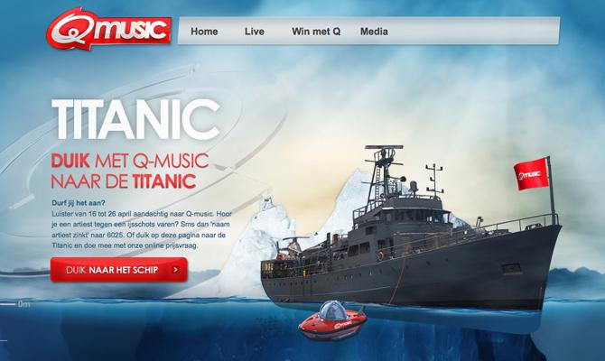 Q-music – Titanic<br /> http://titanic.q-music.be/
