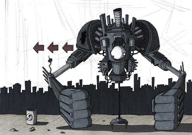 失落的机器人<br /> http://si2.deviantart.com/art/Lost-Robot-30853967
