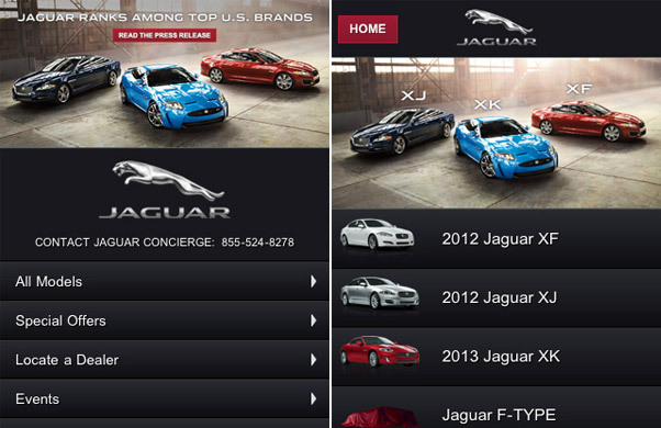 Jaguar USA<br /> http://m.jaguarusa.com/