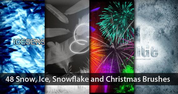 48套雪,冰,雪花和圣诞笔刷<br /> http://www.1stwebdesigner.com/resources/48-snow-ice-snowflake-and-christmas-brushes/