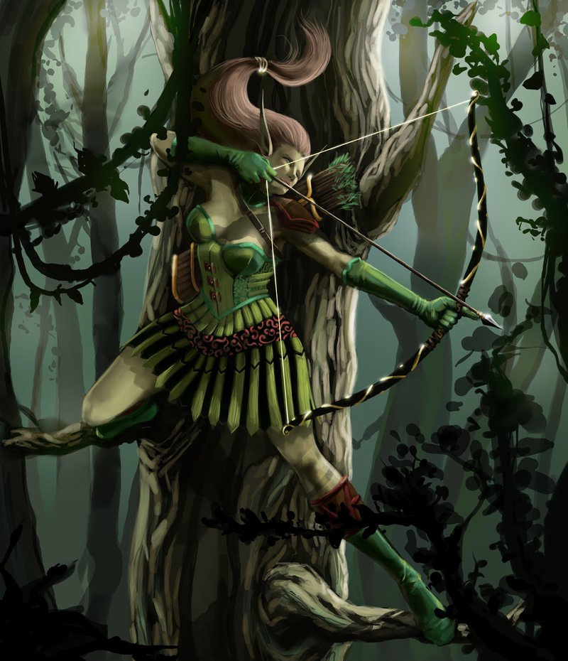 精灵弓箭手<br /> http://mansarali.deviantart.com/art/Elf-Archer-Beauty-Shot-125876203