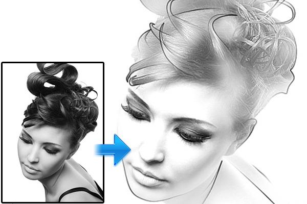 创建绘图效果的照片 http://www.photoshopstar.com/photo-effects/creating-drawing-effect-on-the-photo/