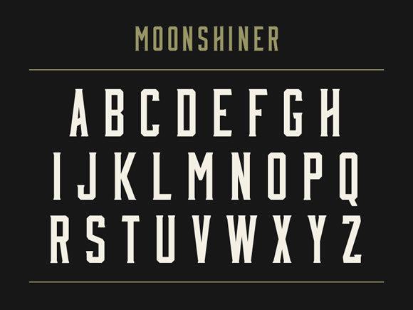 Moonshiner<br /> http://dribbble.com/shots/877205-Moonshiner-New-Free-Typeface