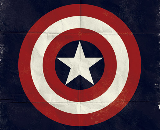 Captain America by Marko Manev<br /> http://www.behance.net/gallery/Marvel-Minimalist-Posters/1829335