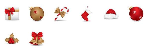 圣诞精神图标集<br /> http://dryicons.com/free-icons/preview/christmas-spirit-icons/#icons