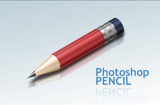 超级闪亮的真实铅笔绘制<br /> http://psd.tutsplus.com/tutorials/drawing/how-to-create-a-super-shiny-pencil-icon/