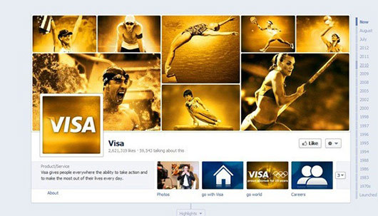 Visa<br /> https://www.facebook.com/visa