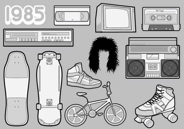 1985 – A Free Vector Pack of 80s Icons<br /> http://www.vecteezy.com/vector-icons/781-1985---a-free-vector-pack-of-80s-icons