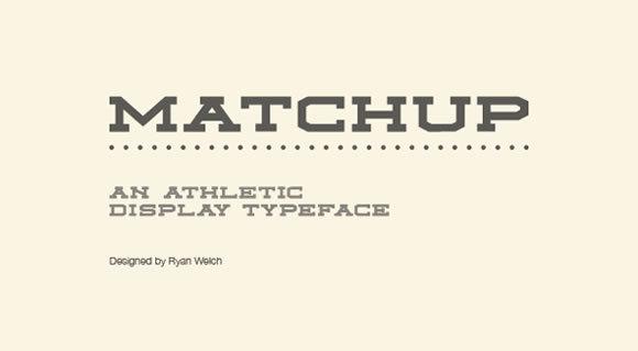 Matchup<br /> http://www.behance.net/gallery/Matchup-Free-Font/6634723