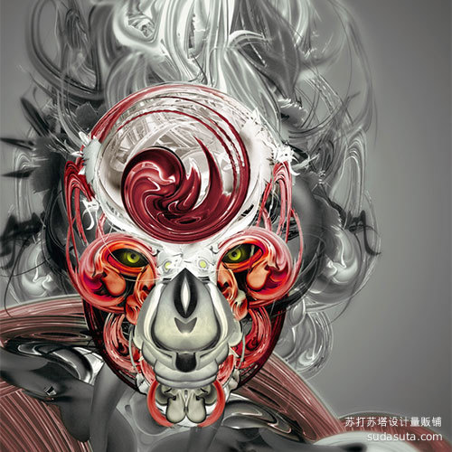 将分形艺术融入到插图中<br /> http://psd.tutsplus.com/tutorials/designing-tutorials/awesome-abstract-illustrations/