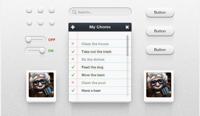 CSS3 UI Kit<br /> http://www.icondeposit.com/design:100