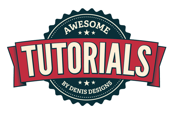 Create a Clean Retro Badge<br /> http://www.denisdesigns.com/blog/2011/07/create-a-clean-retro-badge-in-adobe-illustrator/