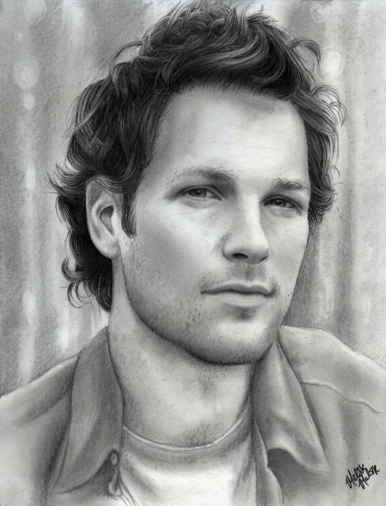 By Melissamalone<br /> http://melissamalone.deviantart.com/art/Paul-Rudd-pencil-drawing-214901463
