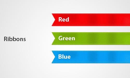 RGB丝带<br /><br /> http://www.psdfolder.com/rgb-ribbons/