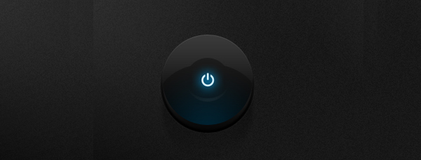 Dark Glossy Power Button<br /> http://dribbble.com/shots/342005-PSD-Dark-Glossy-Power-Button
