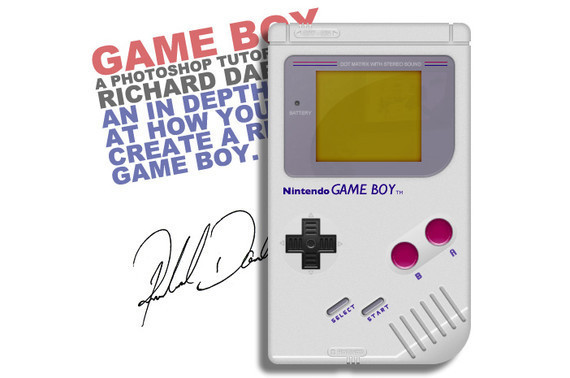 如何创建一个真实的任天堂GameBoy<br /> http://www.minervity.com/features/photoshop/how-to-create-a-realistic-game-boy/<br />