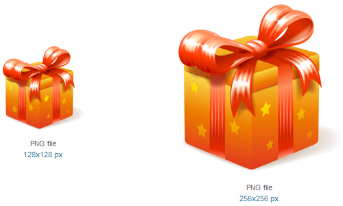 礼物图标<br /><br /> 16×16像素,24×24像素,32×32像素,48×48像素,128×128像素和256×256像素<br /><br /> http://www.softicons.com/free-icons/holidays-icons/enjoyment-icons-by-icojoy/present-icon