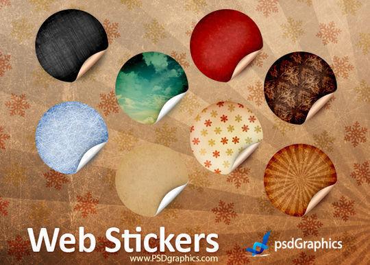 复古的圆型贴纸<br /> http://www.psdgraphics.com/psd/round-retro-stickers-psd-template/